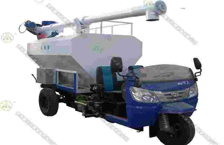 一体式2吨散装饲料运输车